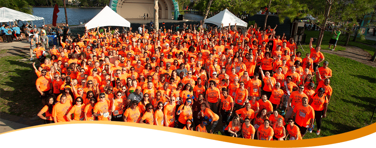 Orange County employees taking a photo at the 2018 corporate 5k race