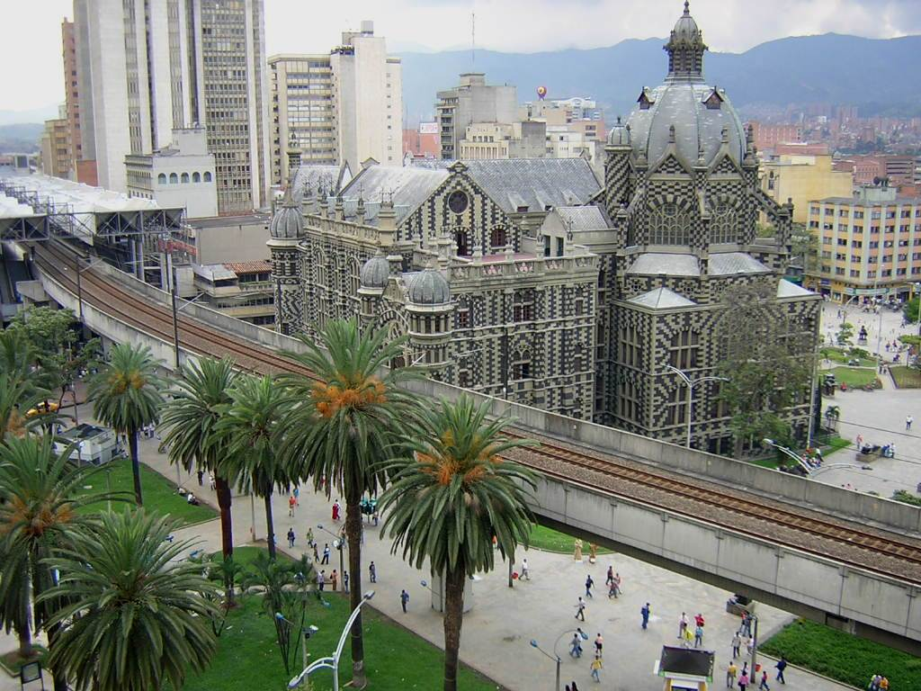 The Palace of Culture, an ornate building, in Medellin, Colombia