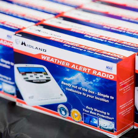 photo of weather alert radios