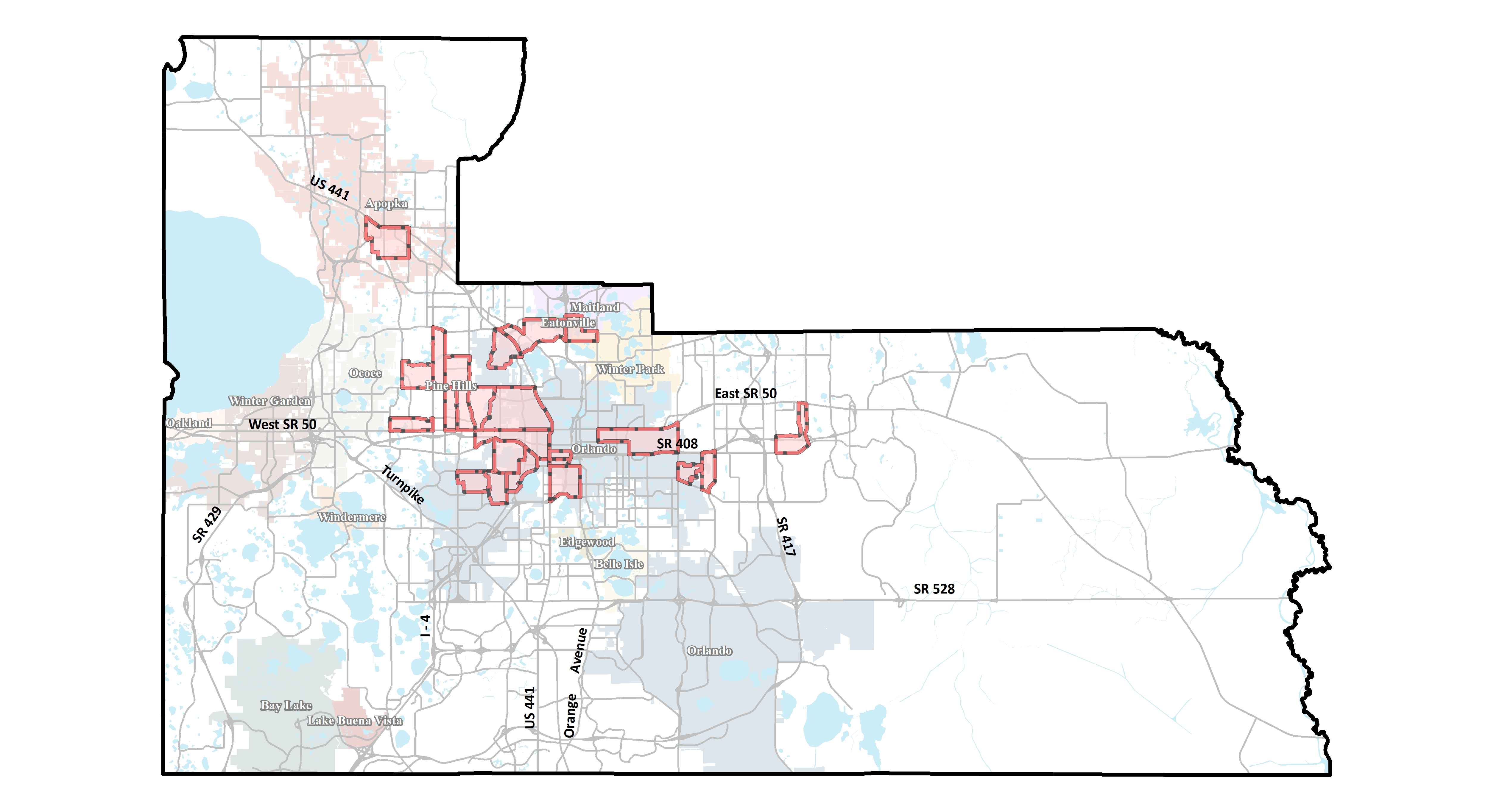 Orange County Florida Map Opportunity Zones